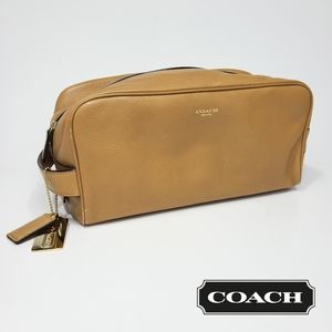 Coach Leather Dopp Bag Cosmetic Toiletry Pouch